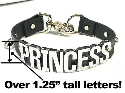 Leather PRINCESS choker HUGE CRYSTAL (1.25