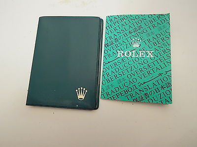 Rare Collectible Rolex Green pocket OYSTER PERPETUAL CHRONOMETER CERTIFICATE