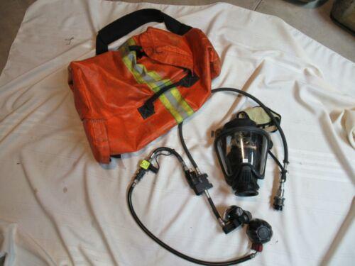 MSA Rescue air RIT Pack  SCBA PAK W/BAG FIREFIGHTER FIRE MASK & HOSES