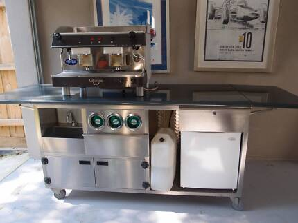 Stainless Steel Coffee Cart Donvale Manningham Area Preview