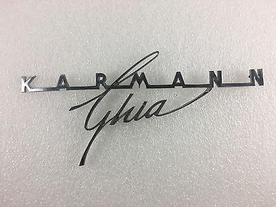 Volkswagen Karmann Ghia Emblem  Script Original