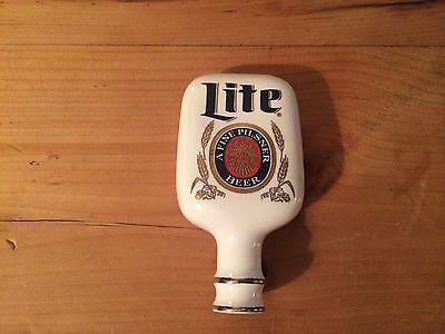 Beer Tap Handle-Miller Lite*Porcelain-Old NOS