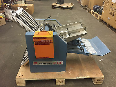 Baum Baumfolder 714 - 14 X 20 Friction Feed Paper Folder