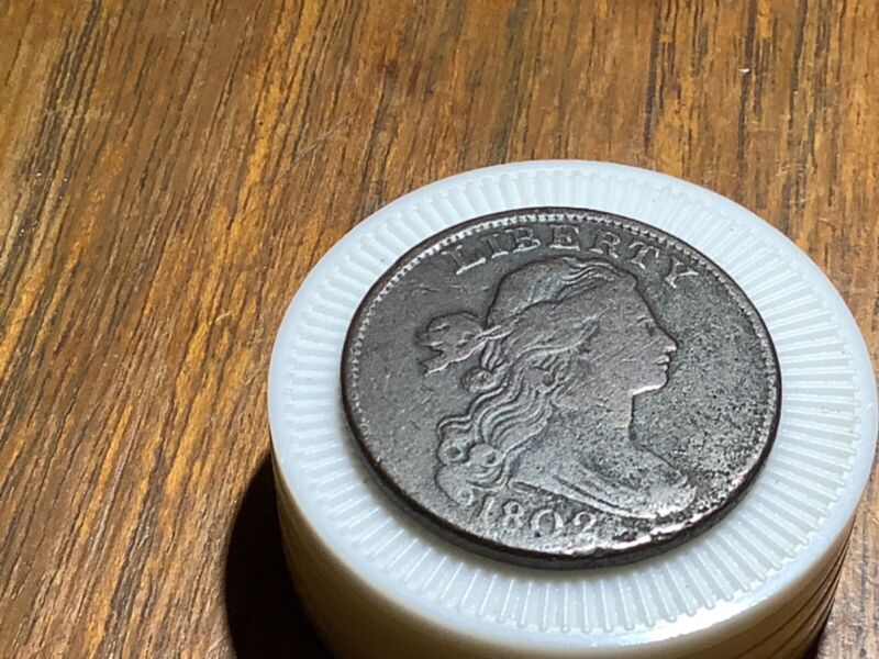 1802 Stemless Wreath Variety Draped Bust Large Cent