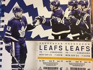 Canadiens v. Leafs Sept 24