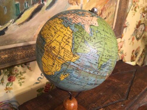 Vintage French World Desktop Globe on stand