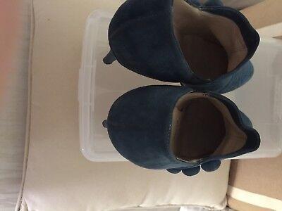 Authentic Christian Louboutin Blue Teal Button C'est Moi Ankle Boots Eu 38