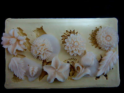 Silicone Mold Mould sugarcraft Fondant Cake Clay Resin, mini Flower #1
