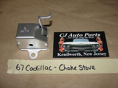 OEM 67 Cadillac 4 BBL CARBURETOR CHOKE STOVE THERMOSTAT COIL BRACKET #33105