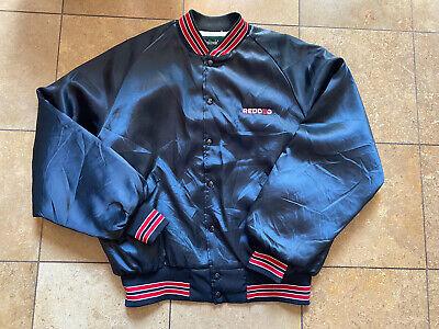 Vintage Red Dog Beer Black Satin Lined Bomber Jacket Men's/Adult XL