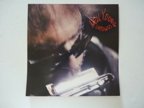 Neil Young Unplugged 1993 LP Record Photo Flat 12x12 Poster