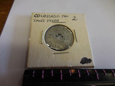 Vintage Colorado 2 Cent Retail Sales Tax Token / Aluminum