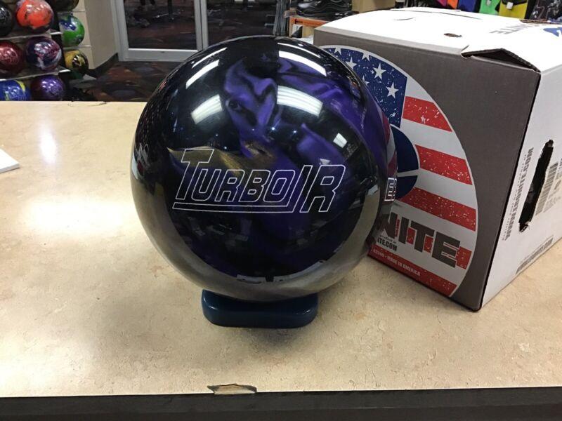 16lb NIB Ebonite Turbo/R Black/Purple/Gold 1st Quality Bowling Ball