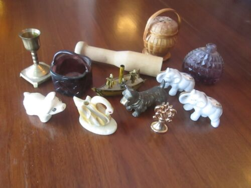 Vintage Junk Drawer Lot Collectible Miniatures JAPAN INDIA MEXICO
