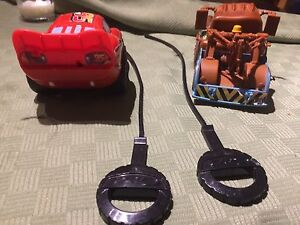 Cars pull toys- flash and mater