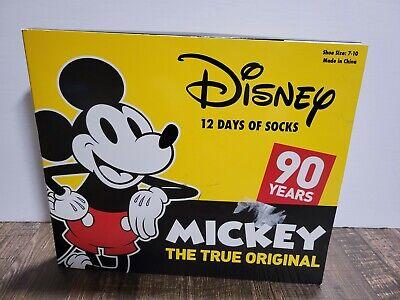 Disney MICKEY MOUSE 12 DAYS OF SOCKS Advent Countdown Calendar - Kids Size 7-10