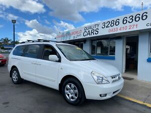 2009 Kia Carnival 8 Seater Automatic White $68 per week Capalaba Brisbane South East Preview