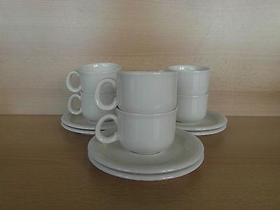 6 tasses à moka + sous tasses Veni Royal Boch Pieter Stockmans