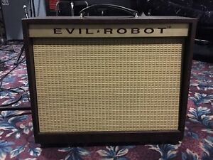 Amazing 'Evil Robot' handwired tube amplifier combo 'Rare'