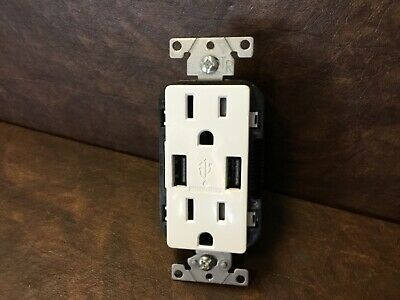 Wall Charging Dual USB Rapid Outlet And Dual Socket Port Class 2 5vdc