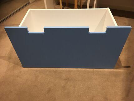 IKEA STUVA MALAD Blue/White Storage Box x 2 ($50 each)
