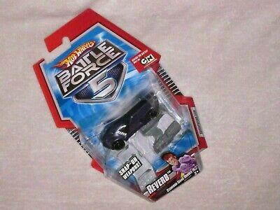 Hot Wheels Battle Force 5 Reverb Purple with a black stripe