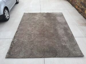 Large modern area rug; oversized 7.5'X 9.5' Wool $160