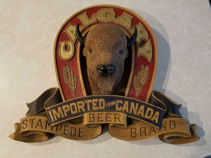 Calgary Stampede Brand Beer 3D Bison Bar Sign