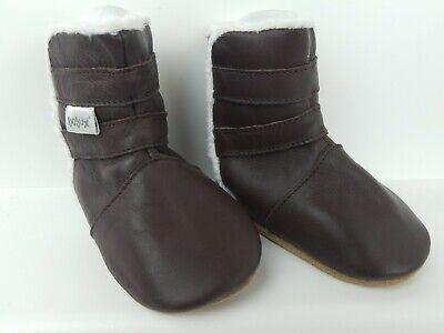 Original Bobux Baby Infant Soft Leather Chocolate Boots Shoes Size 3-9 M Unisex