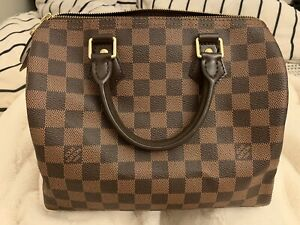 Authentic Louis Vuitton Speedy 25 in Damier leather