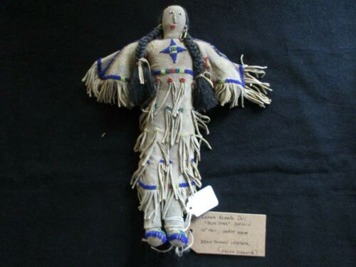 NATIVE AMERICAN BEADED LEATHER DOLL,  AUTHENTIC SOUTH DAKOTA DOLL  SD-0821*05754