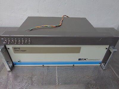 Esc 8816 Environmental Data Logger 3 Cards Voltage Status Relay Out S 112-0000