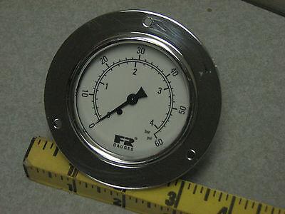 F R Watts 60 Psi Panel Mount Pressure Gauge Bar 4 Pneumatic Air Commercial