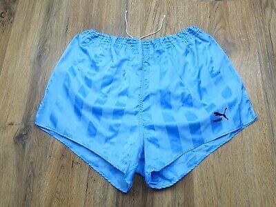 Vintage 80's Puma Shiny Nylon Shorts Glanz Ibiza West Germany Size 8 XL (S075)