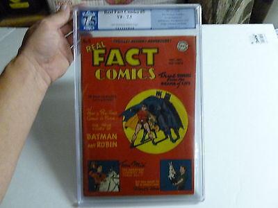 REAL FACT COMICS  #5  PGX  7.5  batman
