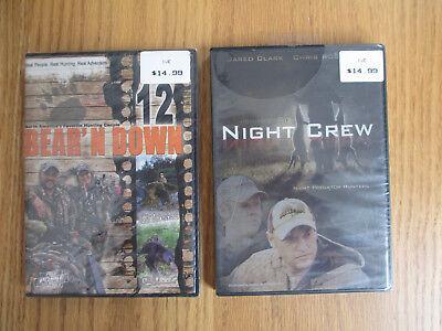 NIGHT CREW PREDATOR HUNTERS + BEAR'N DOWN 12 - HUNTING - DVD 2 PACK