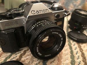 Canon AE-1  135mm with extra lens