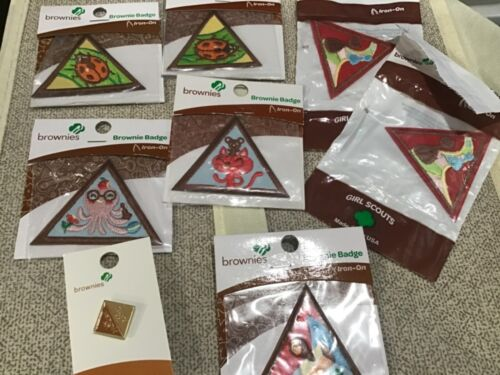 Girl Scout  Brownie try it badge lot and my promise my faith year 2 pin new