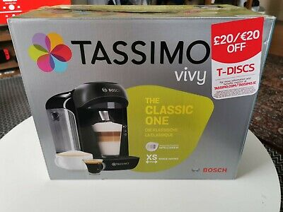 Bosch Tassimo Vivy  1 Cups Espresso Machine - Black (TAS12A2GB)
