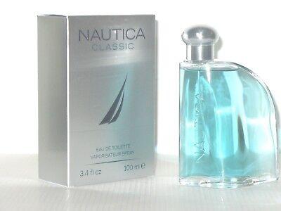 Nautica CLASSIC Cologne for Men 3.4 Oz / 100ml Eau De Toilette Spray NIB Sealed