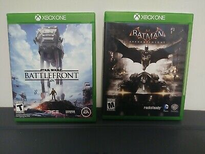 Xbox one video game LOT of 2 Games Batman: Arkham Knight & Star Wars Battlefront