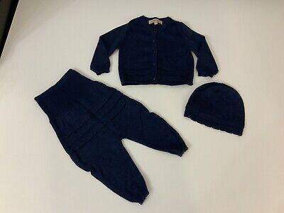 Hucklebones London Baby Boys 3 Peice Outfit, Set, Size Age 6 Months, Blue, VGC
