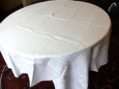 Tablecloth period Art Déco 1m70 x 1m60 en Damask linen