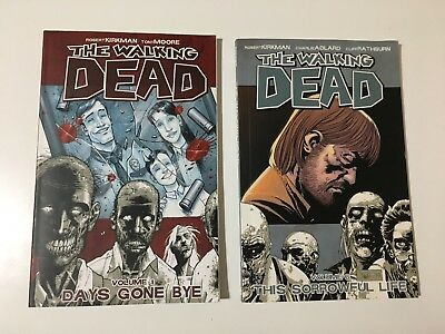 The Walking Dead Comic Book Volume 1 and 6 Days Gone By & This Sorrowful