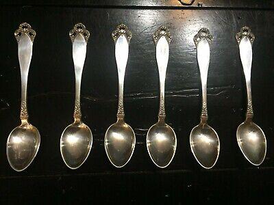 6 Vermeil 830 Silver Brødrene Mylius Kragerø Demitasse Spoons   #11183