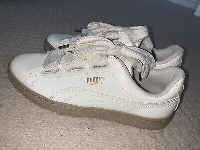 GENUINE PUMA PATIENT BASKET TRAINERS PATENT SIZE 7 8/10 Condition