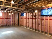 PROFESSIONAL BASEMENT FRAMING FOR $3.95/SQFT, MATERIAL INCLUDED