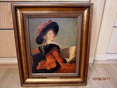 Portret von Elisabeth Louise Vigée-Le Brun (1755 – 1842, French), Kunstdruck