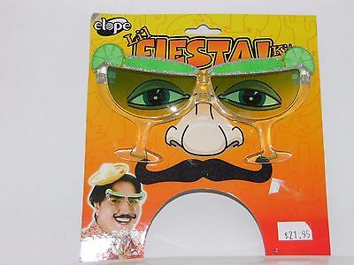 Fiesta Mustache & Glasses Kit Trick Or Treat Halloween Party Costume Accessory