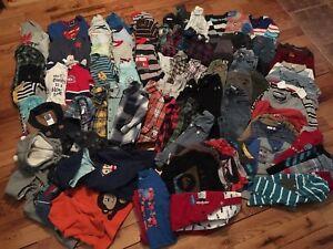 Vêtements garçon et unisexe 24 mois et 2 T (2$ à 3$ le morceau)